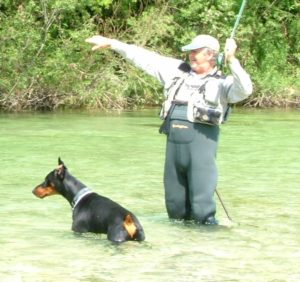 Fly Fishing Austria - Man and his dog